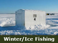 Winter and Ice Fishing Tile